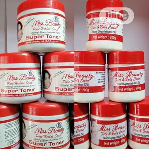 Miss Beauty Pure Herbal Whitening Soap + Cream | Skin Care for sale in Lagos State, Ikeja
