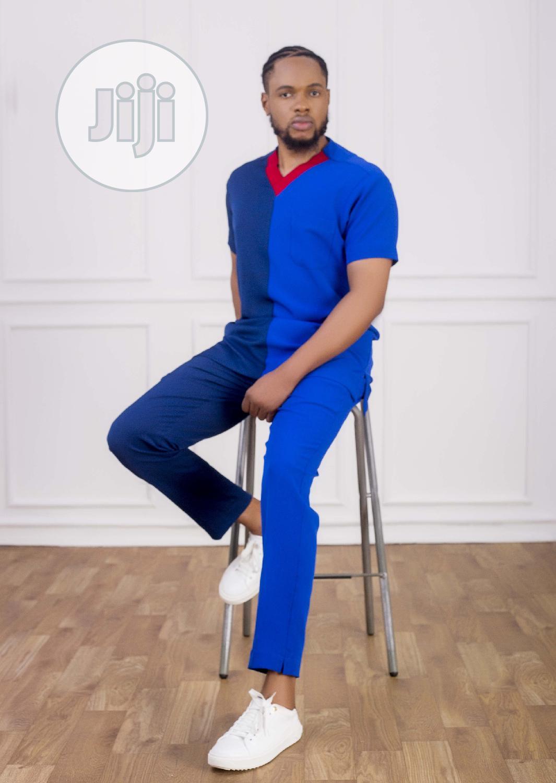 Archive: Casual Men's Suit - Navy Blue and Royal Blue Mix - Vanskere