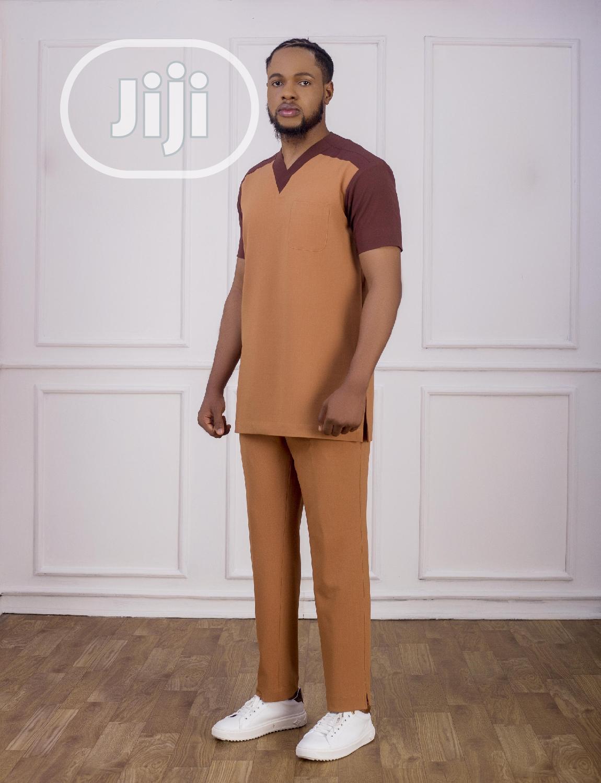 Archive: Peach and Brown Casual Men's Suit - Vanskere