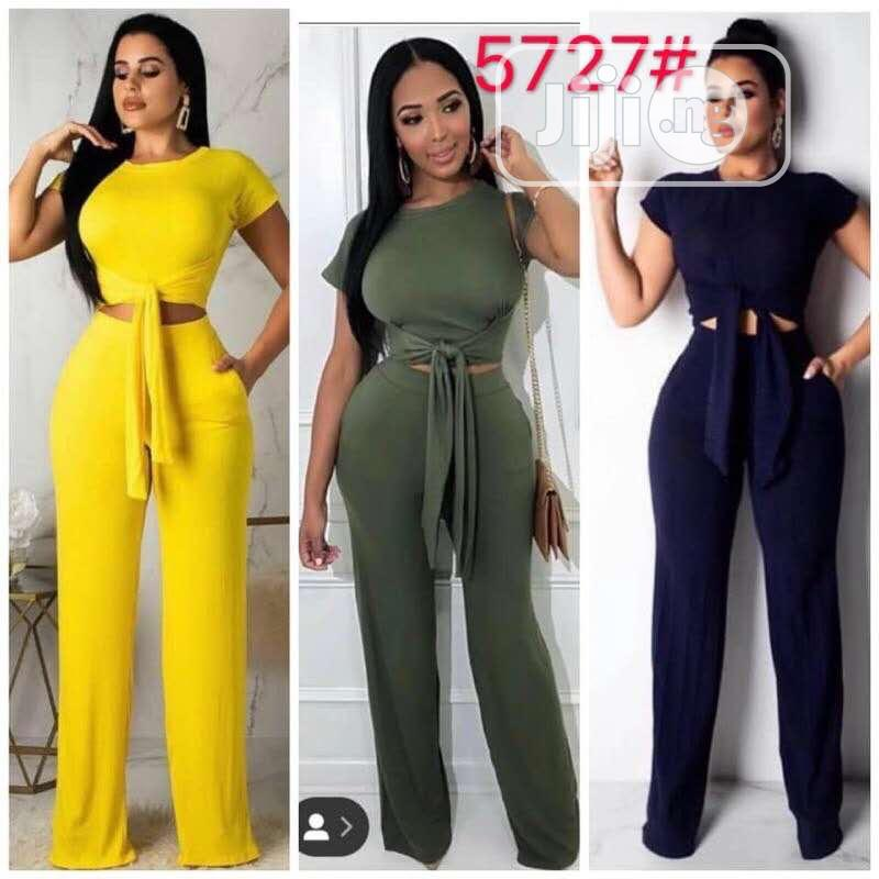 Cute High Waist Trouser and Crop Top | Clothing for sale in Ikeja, Lagos State, Nigeria