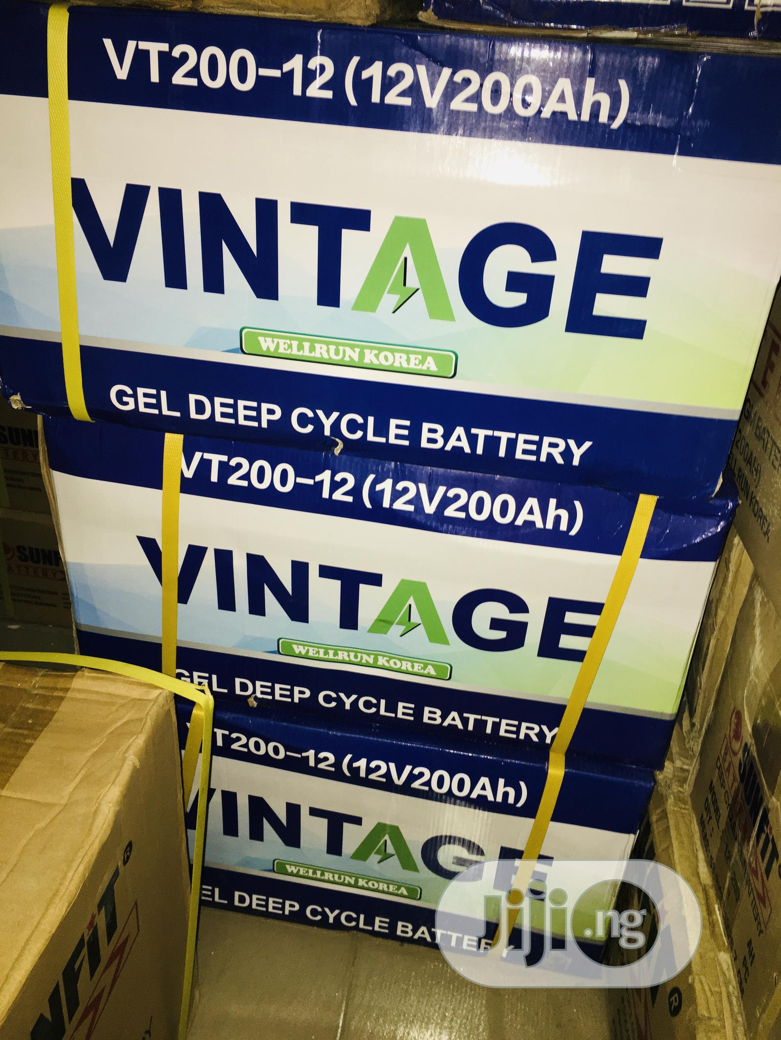 200ah 12v Vintage Battery Available With 1yr Warranty | Solar Energy for sale in Lekki, Lagos State, Nigeria