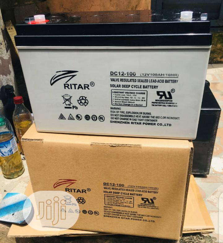 100ah 12v Ritar Deep Cycle Battery.