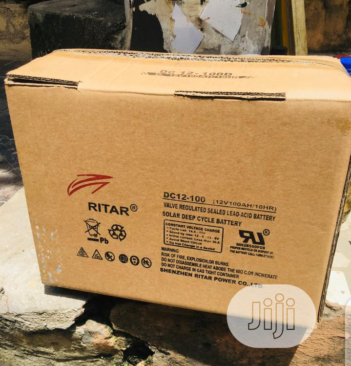 100ah 12v Ritar Deep Cycle Battery. | Solar Energy for sale in Badagry, Lagos State, Nigeria