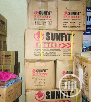 200ah 12v Sunfit Battery.   Solar Energy for sale in Lagos State, Lekki