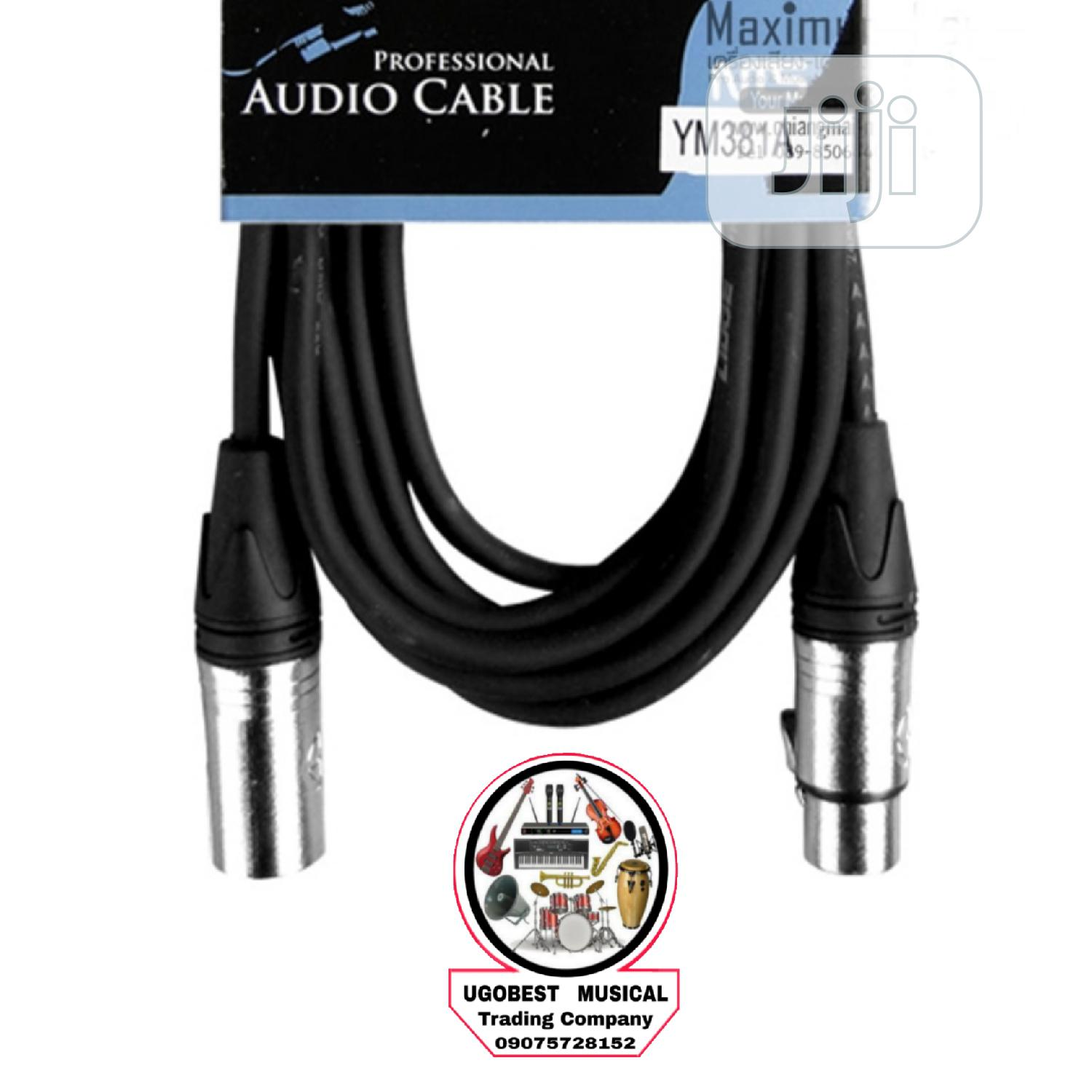 Original XLR Male Canon to Female Canon Mic Cable | Accessories & Supplies for Electronics for sale in Mushin, Lagos State, Nigeria