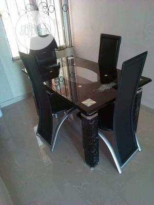 Imported Dinning Table With Tempered Glass | Furniture for sale in Lagos State, Ikeja
