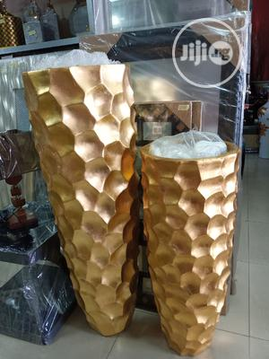 Gold Colour Of Ceramics Set Of Flower Vase | Home Accessories for sale in Lagos State, Agege