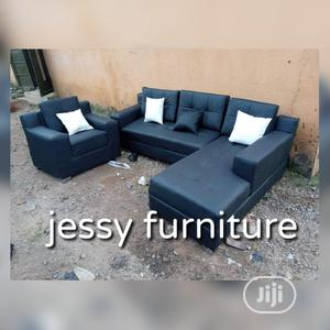 Set of L-Shaped Leather Sofa With One Single | Furniture for sale in Lagos State, Badagry