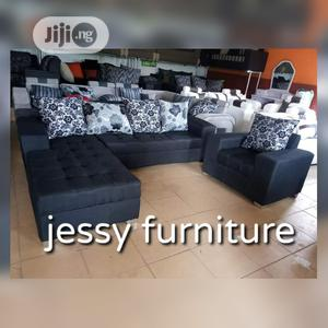 New Set of L-Shaped Fabric Sofa With One Single | Furniture for sale in Lagos State, Lagos Island (Eko)