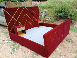 6by6 Feet Bedframes With Bedside Drawers - King's Size Bed   Furniture for sale in Lagos State, Ajah