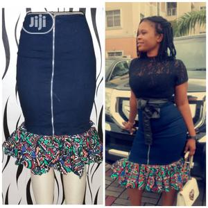 Demin / Ankara Skirt / Outfit Ladies Wear | Clothing for sale in Lagos State, Ikeja