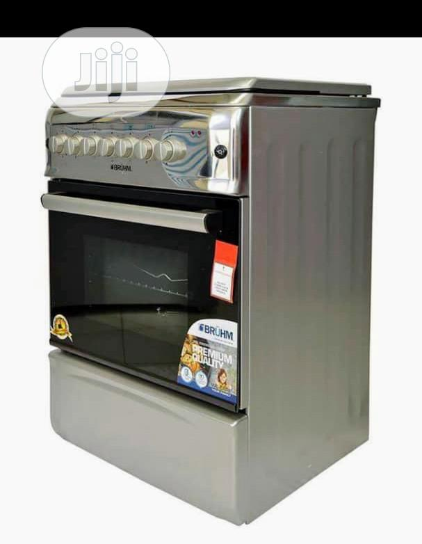 Bruhm 4 Gas Standing Cooker Auto Grill + Oven Gas+Warranty