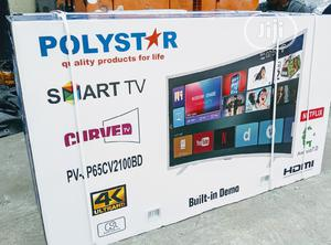 """Original Polystar 65""""Inch Active 4K UHD Smart Tv Android 8.0   TV & DVD Equipment for sale in Lagos State, Ojo"""
