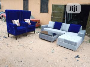 L-shape Sofa With 2 Royal Single Chairs And Table: Couch   Furniture for sale in Lagos State, Oshodi