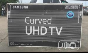 Samsung 55inches 4K Uhd Smart Curved TV   TV & DVD Equipment for sale in Lagos State, Ojo