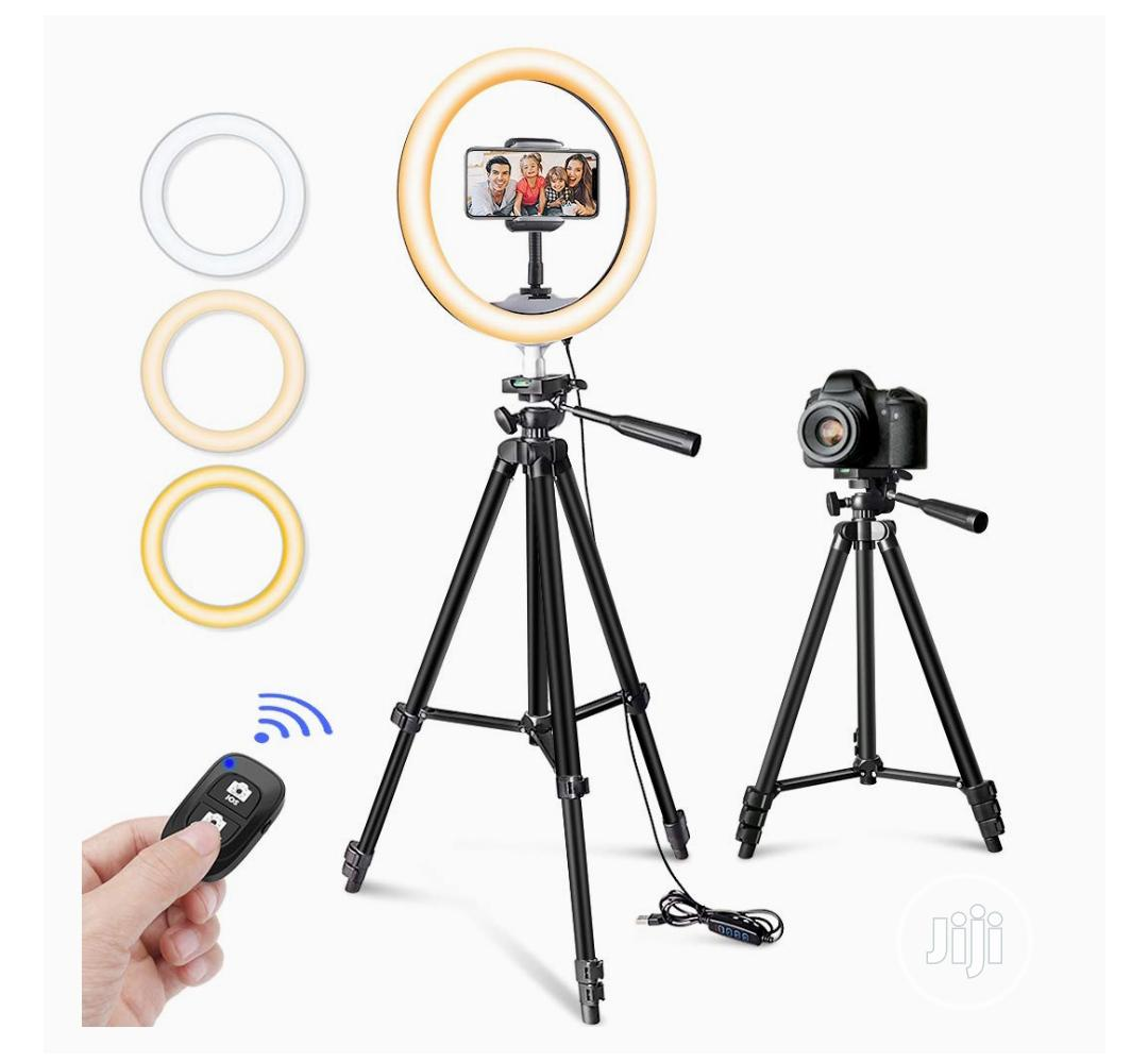 """10"""" USB Selfie LED Ring Light With Extendable Tripod Stand"""
