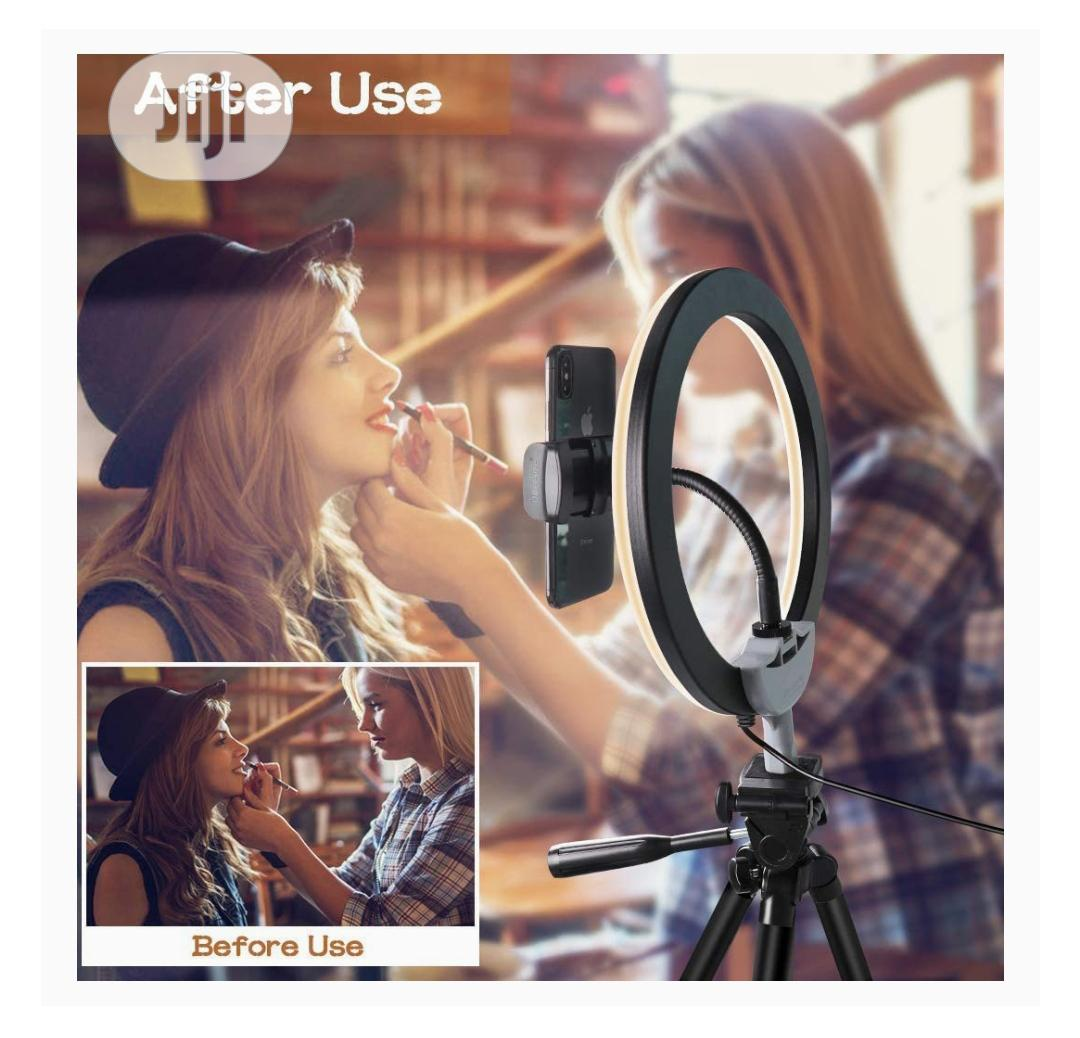 """10"""" USB Selfie LED Ring Light With Extendable Tripod Stand 