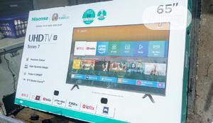 """New-Hisense 65"""" UHD SMART 4K TV +Satellite +Netflix + Dstv   TV & DVD Equipment for sale in Lagos State, Ojo"""