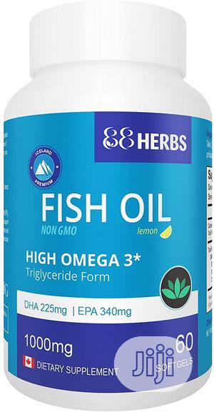 Premium Fish Oil   High Omega 3   Non GMO   Vitamins & Supplements for sale in Lagos State, Ojo
