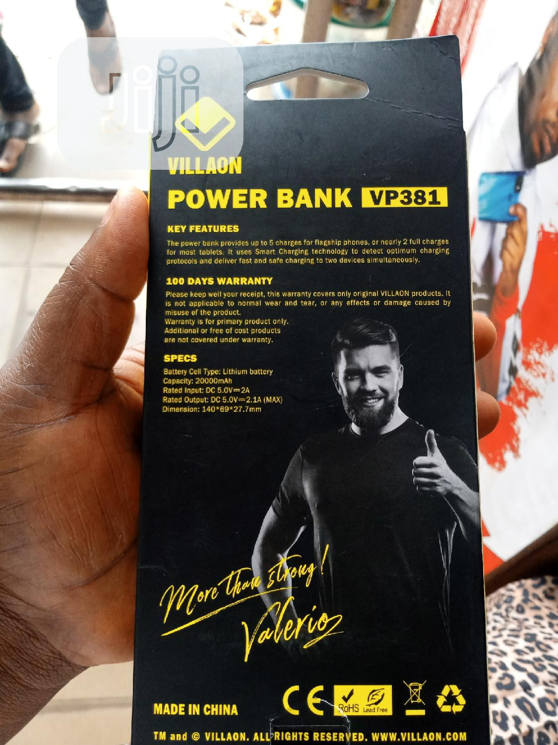 Vilanon Power Bank 20,000mah   Accessories for Mobile Phones & Tablets for sale in Ikeja, Lagos State, Nigeria