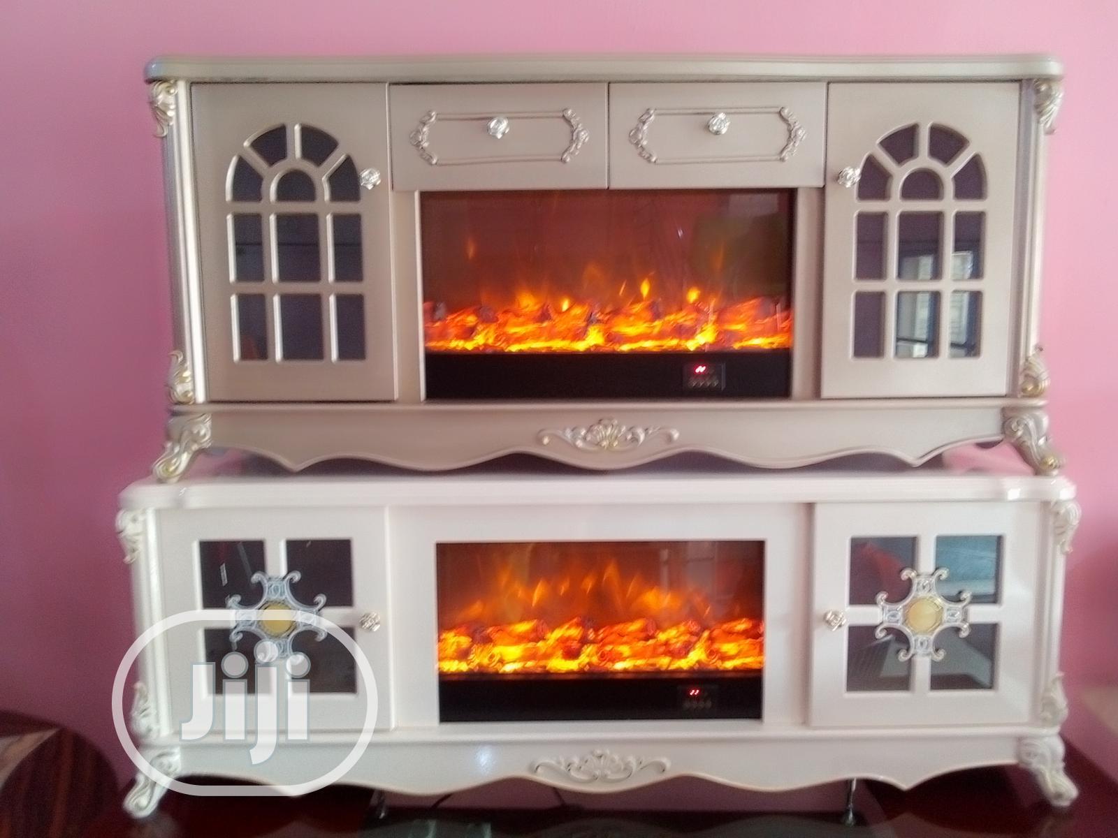 Fire Flame Television Shelf