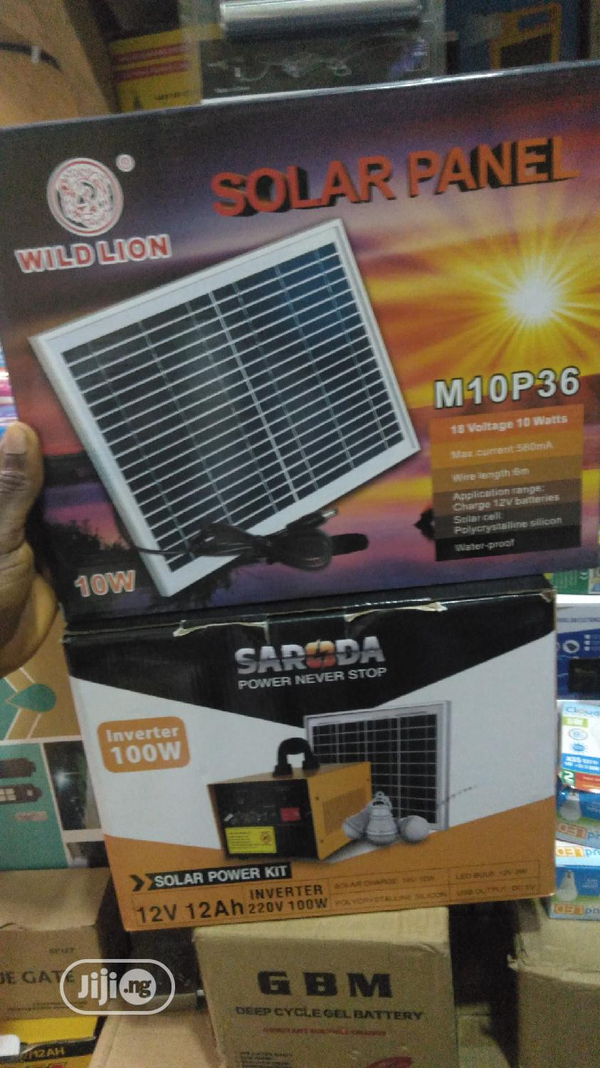 100w Solar GENERATOR 12A Battery 12v | Solar Energy for sale in Ikeja, Lagos State, Nigeria