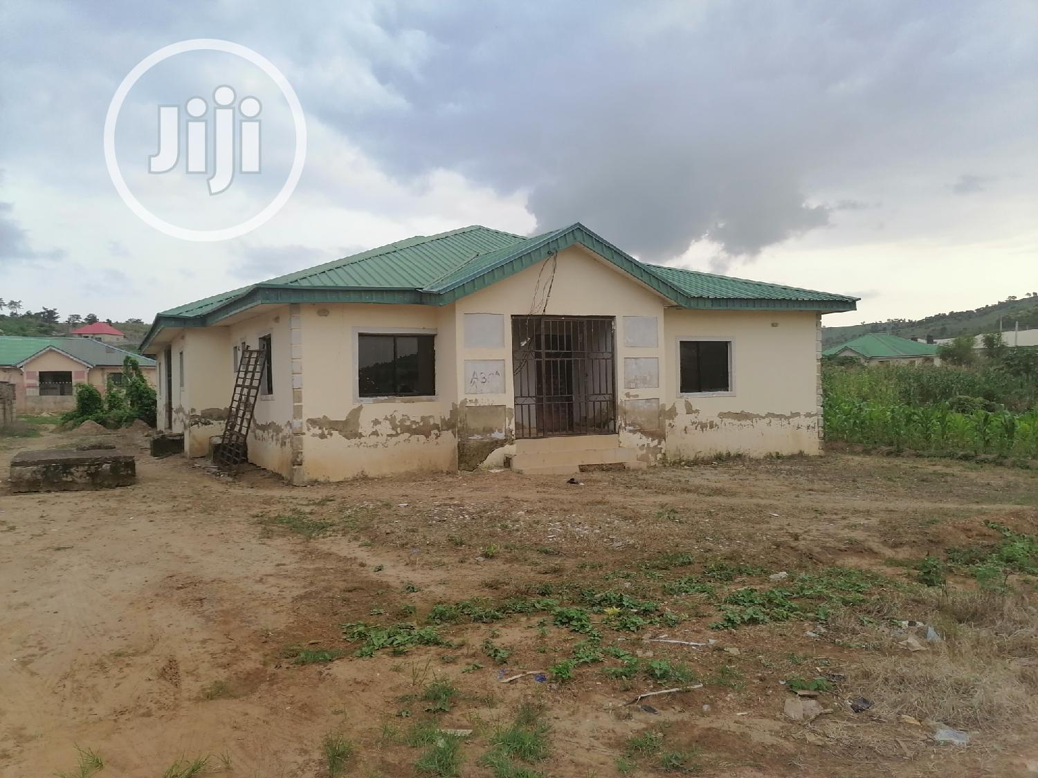 3 Bedroom Bungalow Fenced With Borehole for Sale at Kurudu