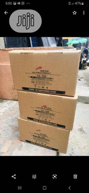 12v 150ah Rita Battery Available Now In | Solar Energy for sale in Lagos State, Ojo
