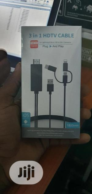 3 In 1 HDMI Cable To Lightning, Micro USB And Type C   Accessories & Supplies for Electronics for sale in Lagos State, Gbagada