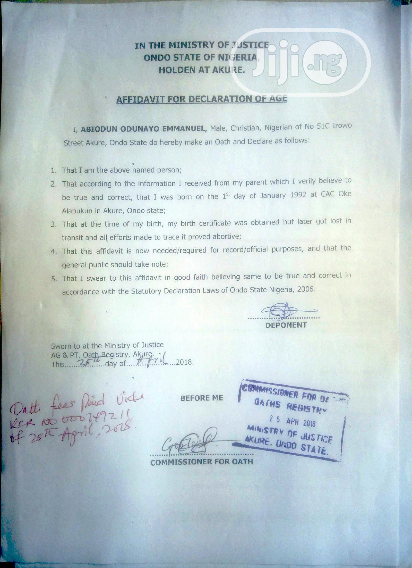 Engr Odunayo Abiodun   Computing & IT CVs for sale in Ibadan, Oyo State, Nigeria