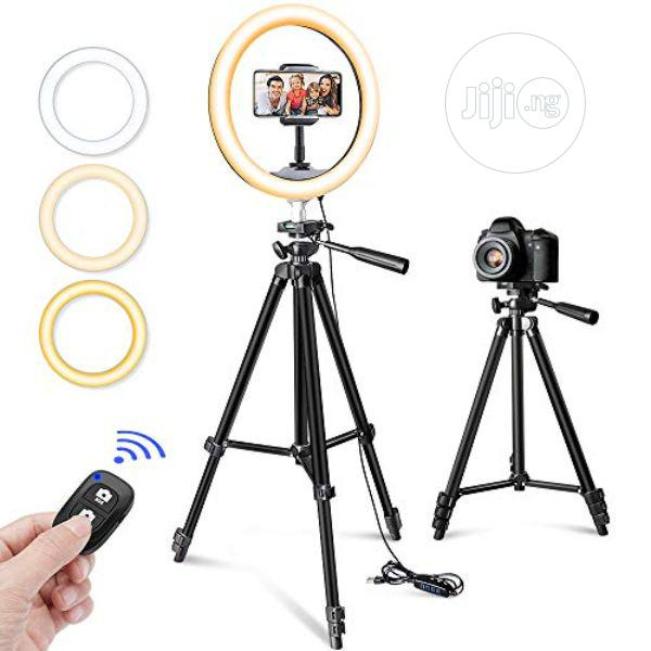 """10"""" Selfie Ring Light With 50"""" Tripod Stand & Phone Holder"""