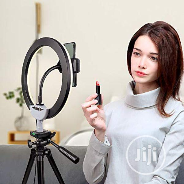 """10"""" Selfie Ring Light With 50"""" Tripod Stand & Phone Holder 
