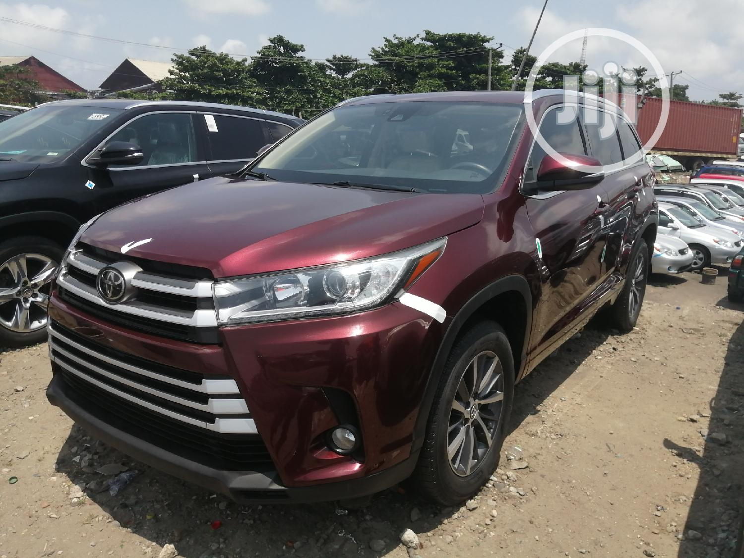 Toyota Highlander 2018 Red | Cars for sale in Apapa, Lagos State, Nigeria