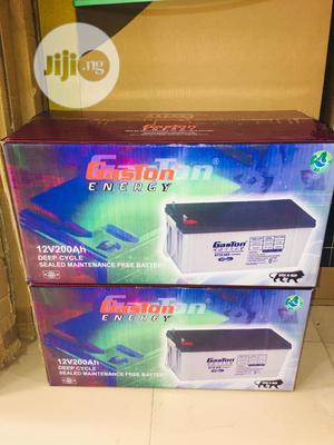 12v 200ah Gaston Battery Available Now Now   Solar Energy for sale in Lagos State, Ojo