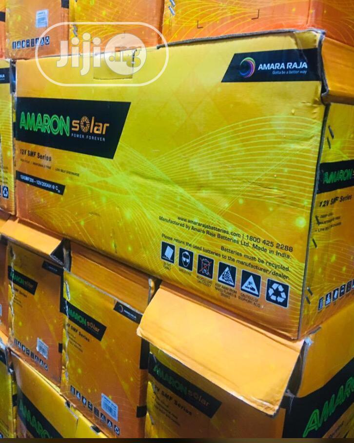 12v 200ah Amaron Solar Battery With 18 Months Warranty