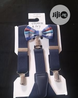 Boys Suspender And Bow Tie By US Crown & Ivy | Babies & Kids Accessories for sale in Lagos State, Ikeja