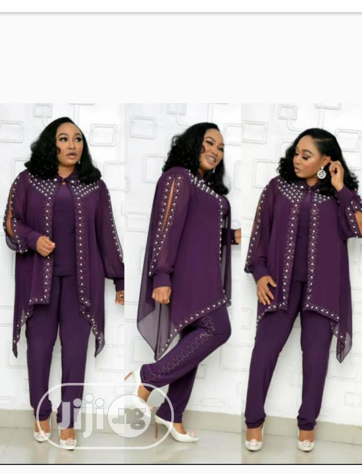 Classic Ladies Chiffon Dress | Clothing for sale in Ipaja, Lagos State, Nigeria