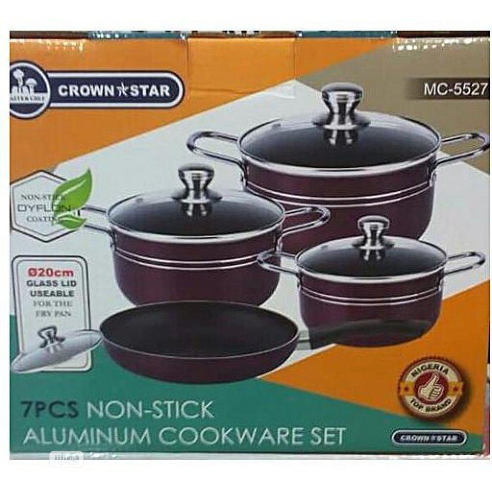 Archive: 7pcs Non Stick Aluminium Cooking Pots -Crown Star N12