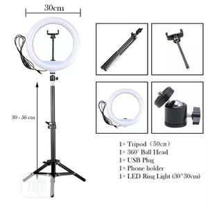 """12"""" 30cm Photography LED Selfie Ring Light Dimmable Lamps   Accessories & Supplies for Electronics for sale in Lagos State, Victoria Island"""
