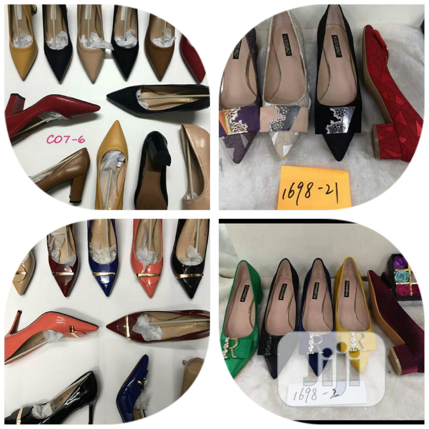Archive: Pointed and Block Heel Office Shoe