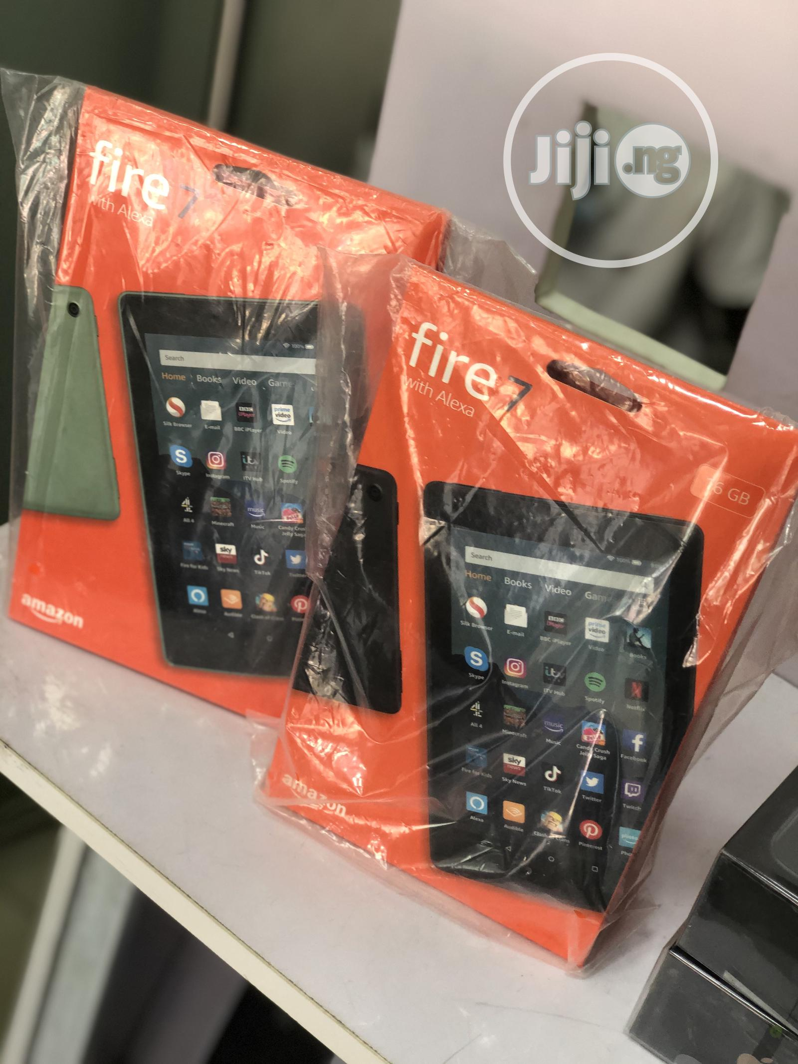New Amazon Fire 7 16 GB Black | Tablets for sale in Ikeja, Lagos State, Nigeria