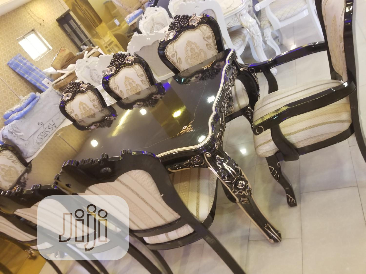 8seater Royal Wooden Family Dinning Table   Furniture for sale in Ajah, Lagos State, Nigeria