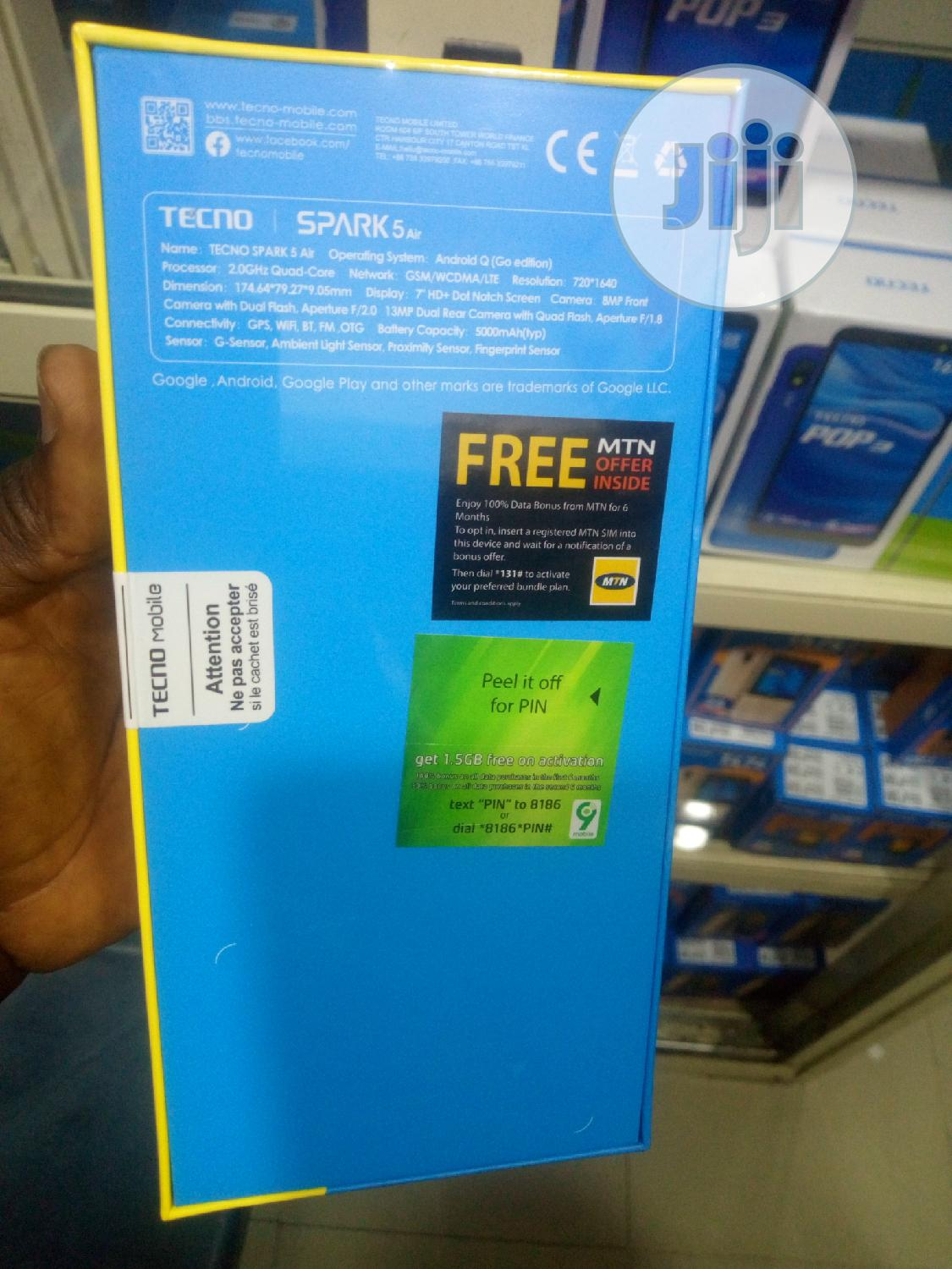 New Tecno Spark 5 Air 32 GB | Mobile Phones for sale in Ifako-Ijaiye, Lagos State, Nigeria