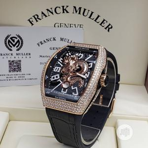 Franck Muller Automatic Full Ice Rose Gold Leather Watch | Watches for sale in Lagos State, Lagos Island (Eko)