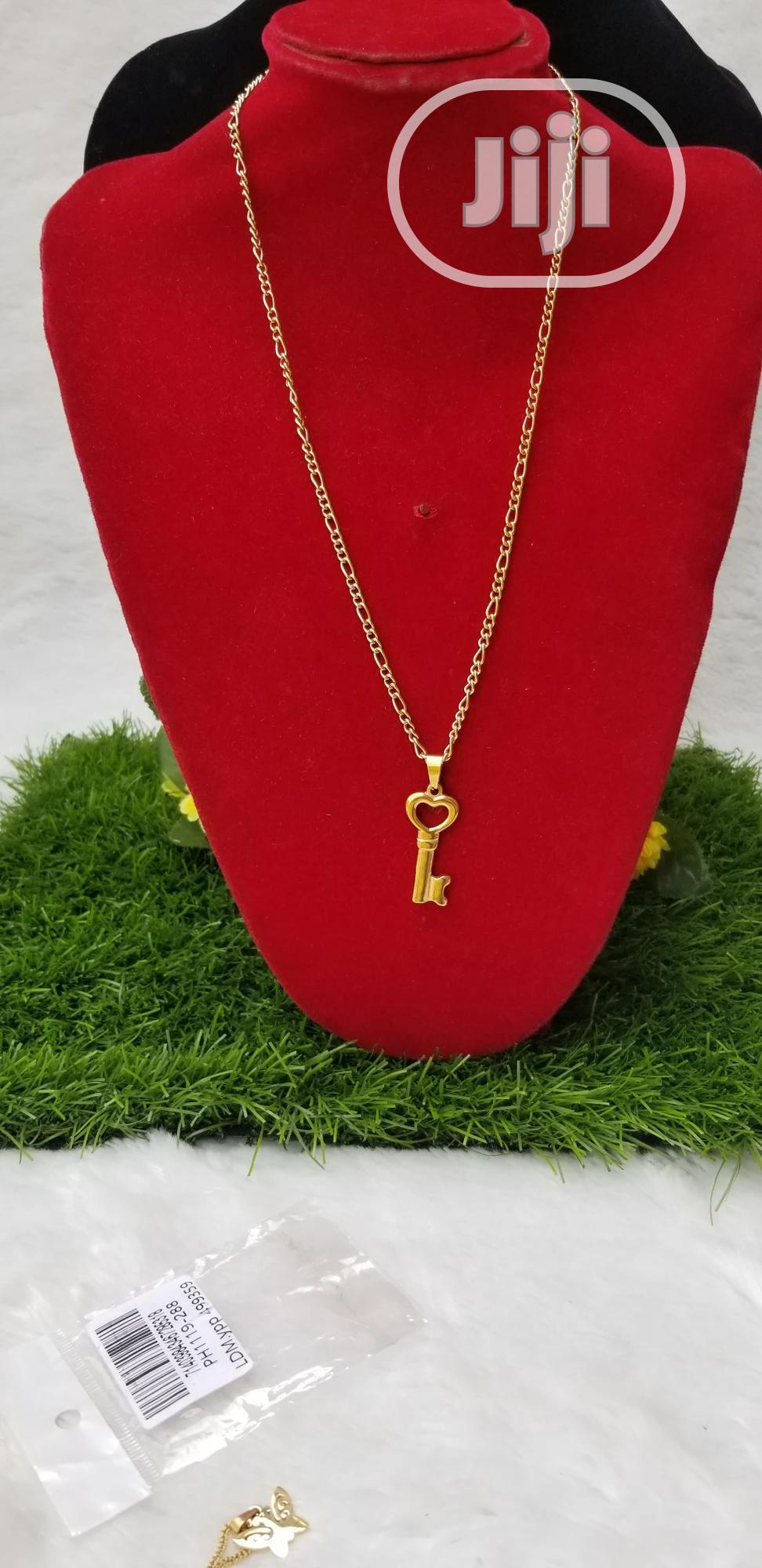 Archive: Pure 18k Stainless Steel Pendant and Chain