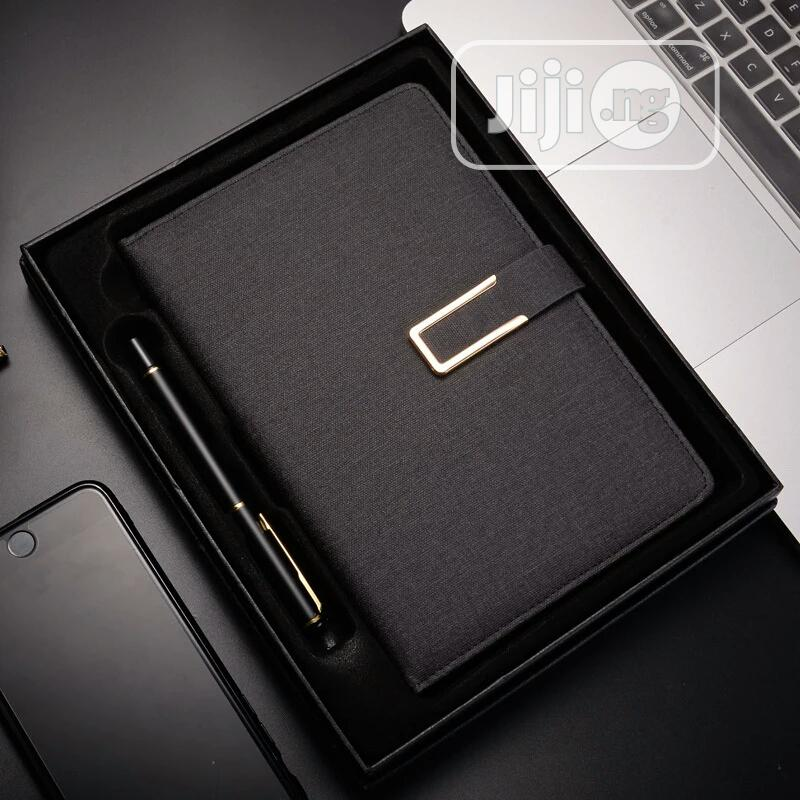 Archive: Leather Notebook With Free Pen And Gift Box With Paper Bag