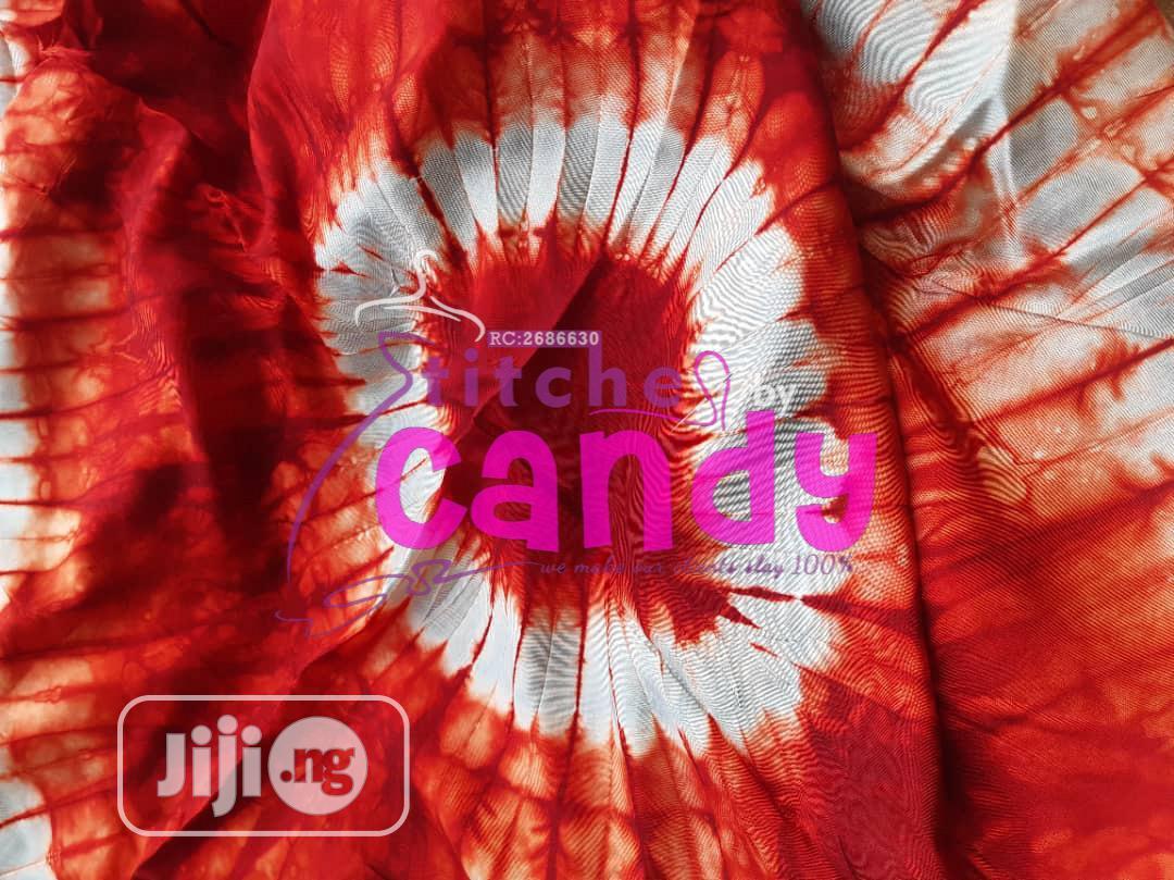 Beautiful Adire Silk Fabric, Comes In 4 Yards