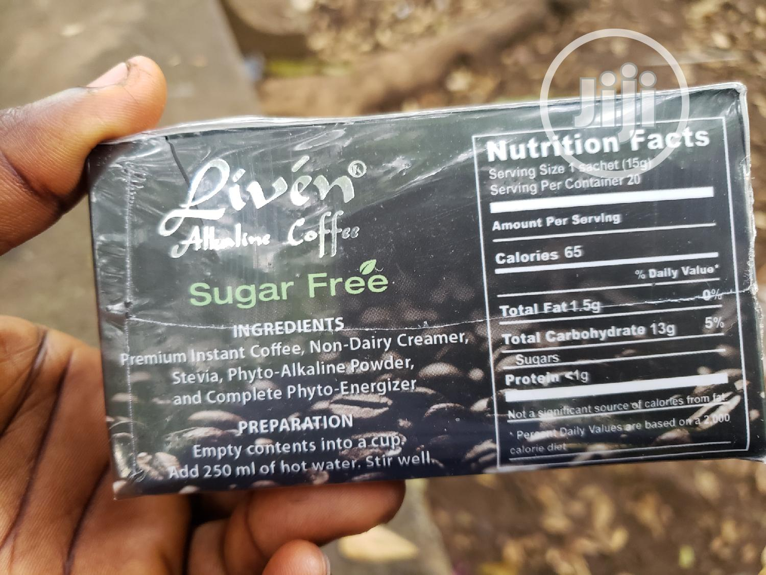 Liven Alkaline Coffee (Sugar Free) | Vitamins & Supplements for sale in Ibadan, Oyo State, Nigeria