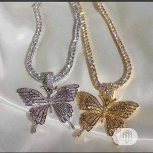 Designer Chain and Butterfly Pendant   Jewelry for sale in Lagos State, Lagos Island (Eko)