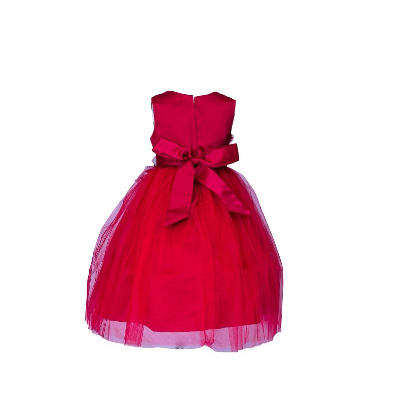 Mini World Red Dress With Cream Flower | Children's Clothing for sale in Surulere, Lagos State, Nigeria
